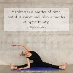 Healing is a matter of time, but it is sometimes also a matter of opportunity. Hippocrates